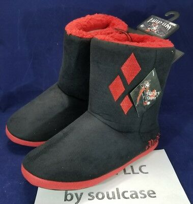 b5704b90abd4 DC Comics Batman Harley Quinn Womens Slipper Boots Plush Shoes Size M  bioworld