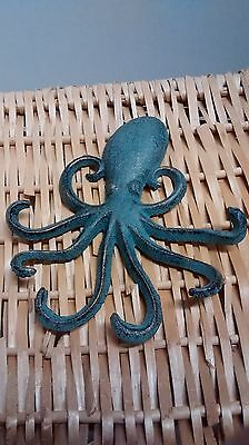 Cast iron NAUTICAL OCTOPUS Towel Hanger, coats, hats or keys
