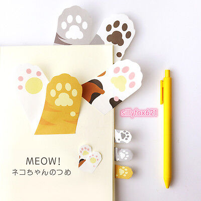 Cute kawaii Cat paw Sticky Notes Post-it book Page marker memo tab stickers UK