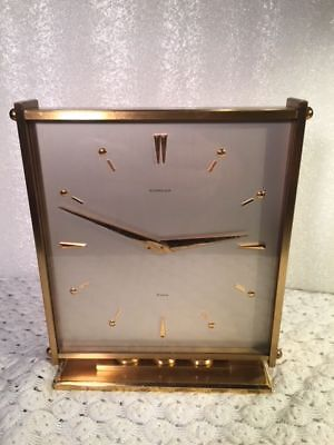 Vintage Swiss Guardier / 8 Days Brass Clock / In Great Working Condition - NICE