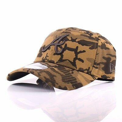 New Era 9FORTY 'Camo' Atlanta Braves Black/Brown Curved Peak Adjustable Cap