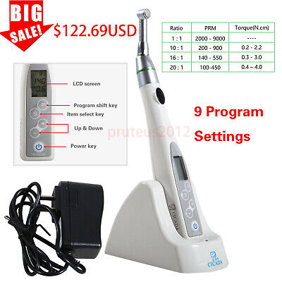 Dental Endodontic Endo Motor Treatment 16:1 Contra Angle Cordless Wireless