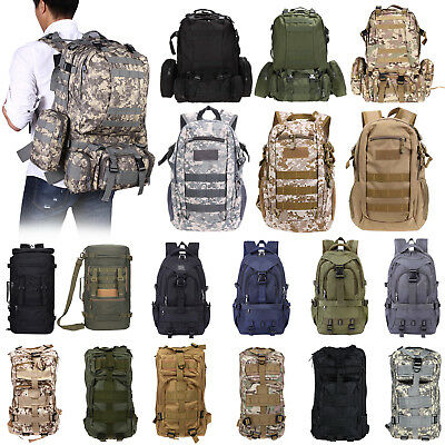 15L/22L/30L/50L/55L Outdoor Military Tactical Backpack Camping Trekking Rucksack