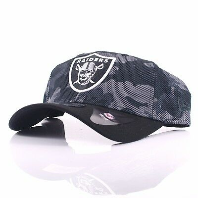 New Era 9FORTY 'Camo' Oakland Raiders Black/White Curved Peak Adjustable Cap