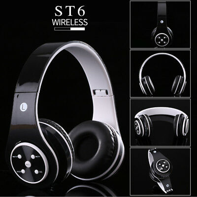 Stereo Bluetooth Wireless Headsets Sports Over Ear Foldable Headphone MP3 FM TF