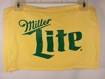 NEW Miller LITE Beer Bar Towel Pub Yellow/Green Cotton Party Man Cave 4
