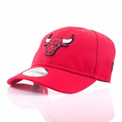 Kids Infant New Era 9FORTY Chicago Bulls Red Curved Peak Cap