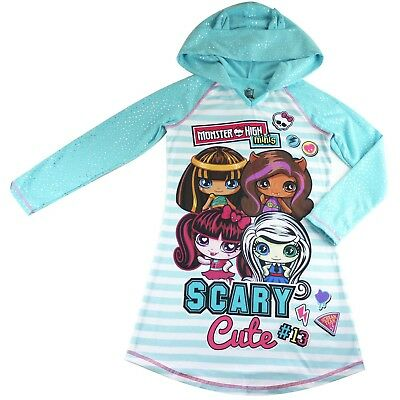 Girls Monster High hoodie top long sleeve glittering size 6-14 xmas new