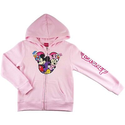 new Girls Minnie Mouse nice pink jacket hoodie zip top size 4-16
