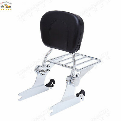 Moto Passenger Backrest Sissy Bar with Luggage Rack For HARLEY Softail 2006-2018