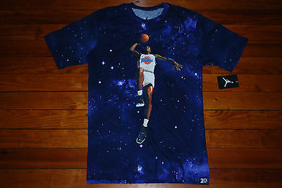 4de5d71d5904f6 NIKE AIR JORDAN Galaxy Jumpman T-Shirt Youth M L Glow in the Dark ...