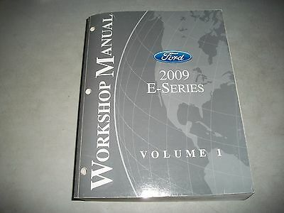 2009 Ford E-Series Econoline Van Shop Manual Volume 1 Only Chassis Service Clean