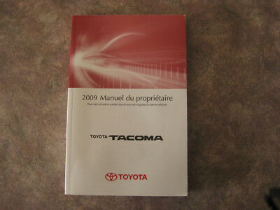 TOYOTA TACOMA - 2009 - Owner's Manual - IN FRENCH - MINT