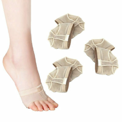 3 Pairs Belly Ballet Dance Paws Cover Foot Forefoot Cushion Pad Half Sock Size S