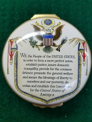 Halcyon Days English Tradition Enamels The Constitution of the USA.