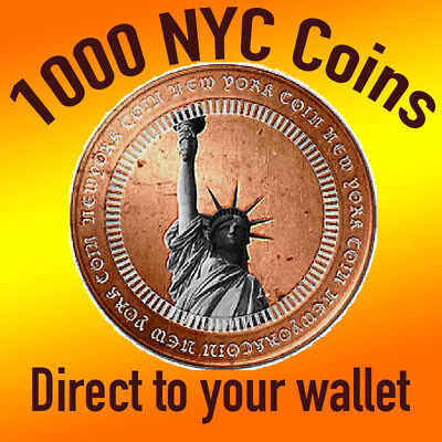 1000 NYC Crypto Coins Direct to Your Wallet - NYC NewYork Coin
