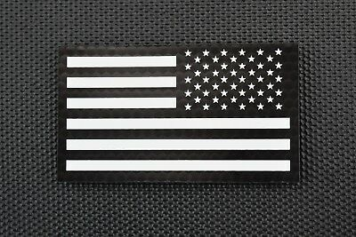 Infrared Reverse US Flag Patch Black & White Police SWAT LEO Security