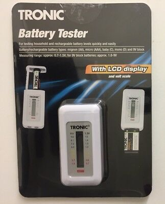 Tronic Battery Tester with LCD display and volt scale Made In Germany