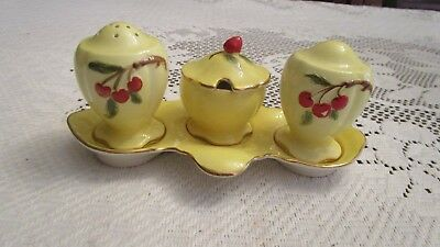 Rare Royal Winton Cherries Cruet Set
