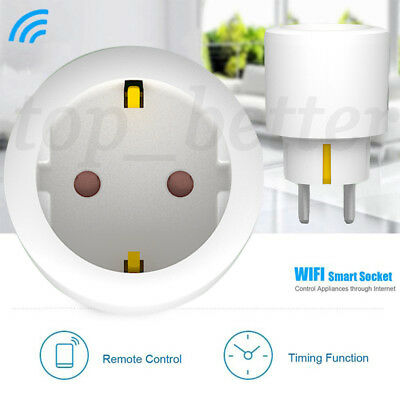 16A Mini WiFi Smart Control remoto Timer Cambiar Power Enchufe Outlet EU Plug T1