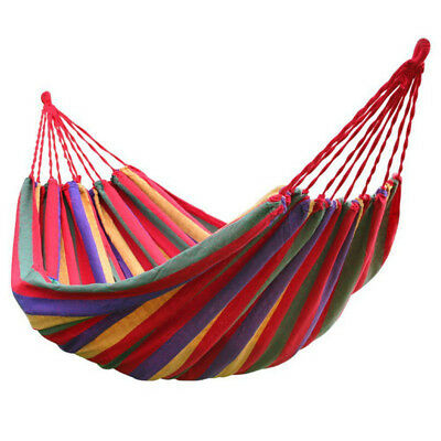 rainbow Outdoor Leisure Double 2 Person canvas Hammock with backpack M3Z9