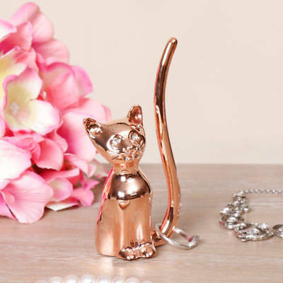 Rose Gold Cat Ring Holder Ring Stand Ring Display Jewellery Stand