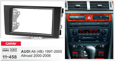 CARAV11-458 Car 2DIN Radio DVD Face Frame Fascia Dash Panel Kit For AUDI A6(4B)