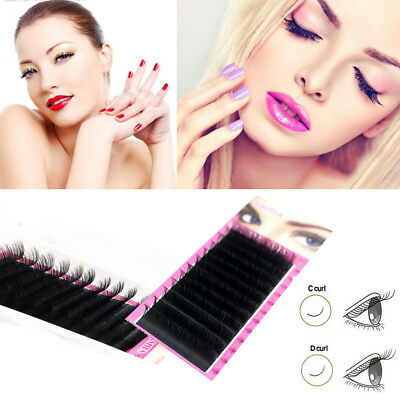 0.07 Blink Mink Eyelash Individual Extension Volume Lashes C D curl Mixed Length