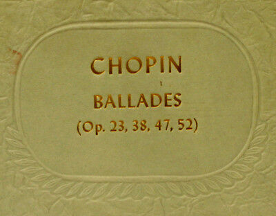 ALFRED CORTOT-PIANO-  Chopin: The Four Ballades No. 1-4  Schellack  78rpm  A256