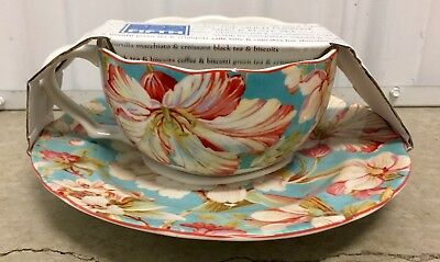 222 FIFTH Eliza Teal Tea Coffee Cup - $5.00 | PicClick