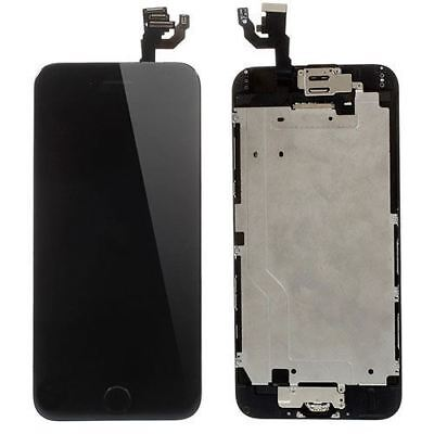 """Black Screen For iPhone 6 4.7""""Replacement Digitizer Touch LCD Home Button Camera"""