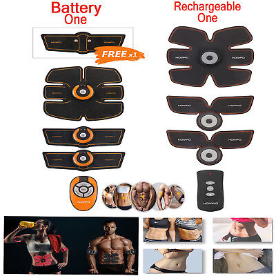 New! Rechargeable ABS Simulator EMS Training Body Abdominal Muscle Exerciser