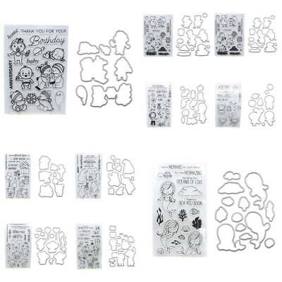 Embossing Stanze Carbon Metall Papier Karte + Stempel Seal Scrapbooking Set DIY