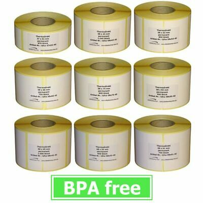 Thermoetiketten for Bizerba - Various Types - 10 to 30 Casters - Shell 40