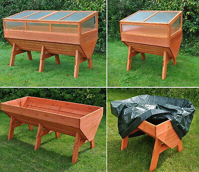 Selections Large Wooden Garden Vegetable Trough Raised Planter Grow Bed Trug