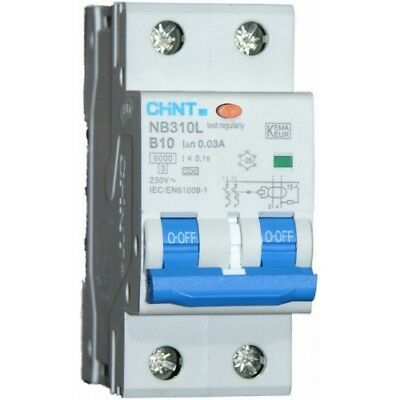Chint RCBO 10A B Curve Type A 30mA 3P+N 3 Pole + Neutral