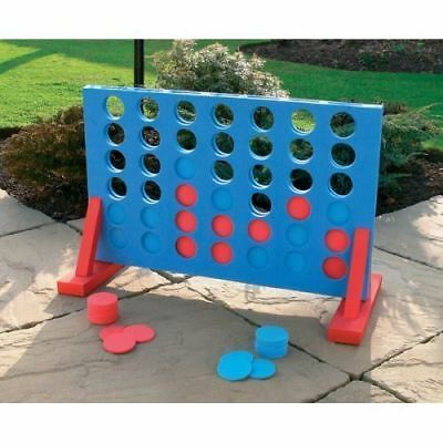 New Giant 4 in a row Play Set Family Kids Play Set Indoor Outdoor Fun Garden