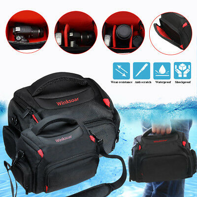 DSLR SLR Waterproof Protective Shoulder Bag Carrying Case For Canon Nikon Camera