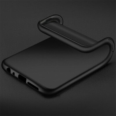 For Samsung Galaxy S10 S9 S8+ Black Slim Shockproof Silicone Soft TPU Cover Case