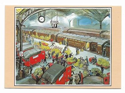 LOADING THE TRAVELLING POST OFFICE EUSTON Grace Golden PO Archives Postcard 971D