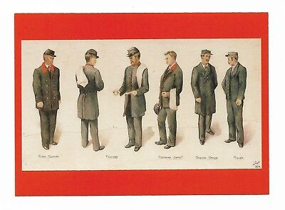 POSTMEN'S UNIFORMS 1894 - Modern Post Office Archives Postcard 975D