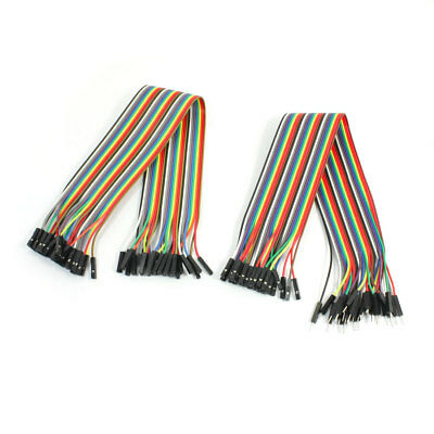 2, 54mm 30 broches connecteur sans soudure Jumper Wire Câble de 30 cm de Long