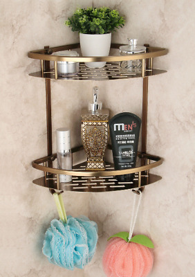 Kitchen Corner Shelf Aluminum Antique Storage Caddy Bathroom Organizer Holder