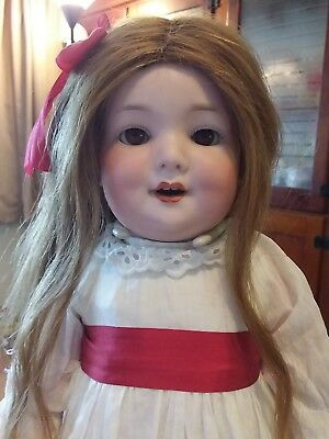 "Rare Antique German bisque AM560a Armand Marseille 18"" toddler doll"