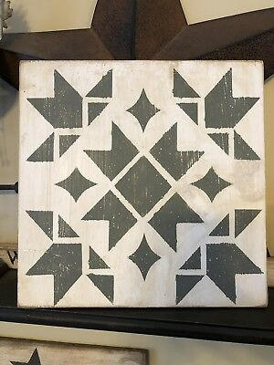 Hand painted Primitive Barn Star Quilt Wood Sign FarmHouse country