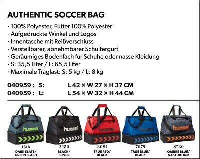 eb4de50e41dc Hummel Authentic Soccer Bag 040959 Sport Fußball Freizeit Fitness Handball