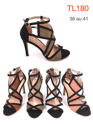 Wholesale Job Lot Ladies Women Sandal High Heeled Shoes 1 Box of 12 Pairs