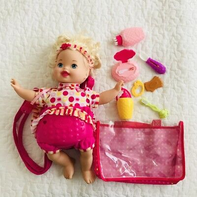 LITTLE MOMMY Laugh And Love Baby Doll Pacifier Talks Head Arms Move Lot 2012