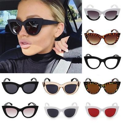 Lady Women Cat Eye Sunglasses Mirrored Shades Eyeglasses Retro Eyewear Glasses