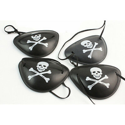 2X Pirate Eye Patch Skull Crossbone Halloween Party Favor Costume Kids Toy LTCA
